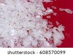 magnesium chloride flakes  sea... | Shutterstock . vector #608570099