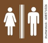 toilet sign | Shutterstock .eps vector #608571026