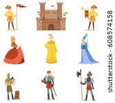 Medieval Cartoon Characters An...