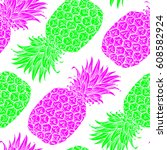 background with fresh exotic... | Shutterstock .eps vector #608582924