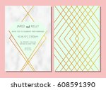 modern invitation to the... | Shutterstock .eps vector #608591390