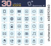 smartphone system icon set 1 ....