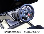 driving simulation sheet | Shutterstock . vector #608605370