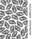 flora leaves printable pattern | Shutterstock .eps vector #608613134