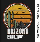 Arizona print design for t-shirt and other uses