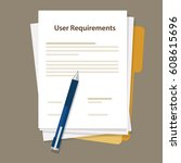 user requirements... | Shutterstock .eps vector #608615696