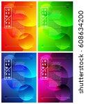 design template. fluid colors.... | Shutterstock .eps vector #608634200