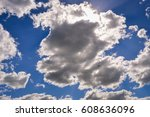 dramatic sky and clouds | Shutterstock . vector #608636096