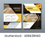 annual report brochure flyer... | Shutterstock .eps vector #608638460