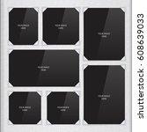 vector page of photo album ... | Shutterstock .eps vector #608639033