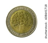 500 Colombian Peso Coin  2003 ...