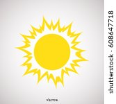sun icon isolated background | Shutterstock .eps vector #608647718