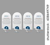 modern infographic options...   Shutterstock .eps vector #608649749
