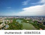 beijing from above aerial shot | Shutterstock . vector #608650316