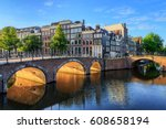 beautiful view of the iconic... | Shutterstock . vector #608658194