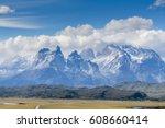 torres del paine national park  ...   Shutterstock . vector #608660414