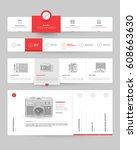 website template elements with...   Shutterstock .eps vector #608663630