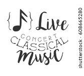 classical live music concert... | Shutterstock .eps vector #608665280