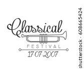 classical live music festival... | Shutterstock .eps vector #608665424