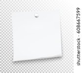 white sticky note isolated on... | Shutterstock .eps vector #608667599