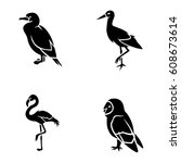 birds vector icons | Shutterstock .eps vector #608673614