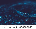 abstract polygonal space low... | Shutterstock . vector #608688050