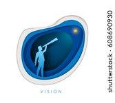 business concept illustration.... | Shutterstock .eps vector #608690930