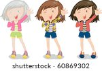 illustration of a girl on a... | Shutterstock .eps vector #60869302