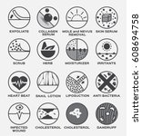 skin vector icon set  ... | Shutterstock .eps vector #608694758