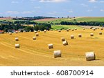 Small photo of Agriculture field haystack landscape