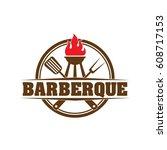 bbq logo | Shutterstock .eps vector #608717153