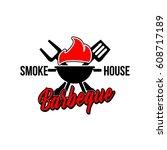 bbq logo | Shutterstock .eps vector #608717189