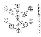 vector illustration of balanced ... | Shutterstock .eps vector #608717996