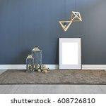 modern interior space blank... | Shutterstock . vector #608726810