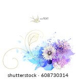 watercolor vector background... | Shutterstock .eps vector #608730314