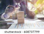 planning  risk and strategy in... | Shutterstock . vector #608737799