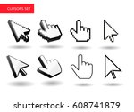 mouse cursors big set . pixel   ... | Shutterstock .eps vector #608741879