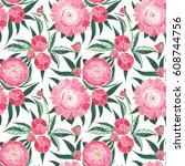 beautiful spring tender graphic ... | Shutterstock . vector #608744756