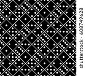 Seamless black and white dice pattern.