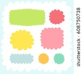 doodles cute elements. color... | Shutterstock .eps vector #608750738