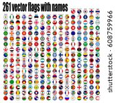 flags of the world  round icons. | Shutterstock .eps vector #608759966