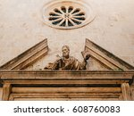 architecture and statues of the ... | Shutterstock . vector #608760083