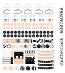 printable planner stickers for... | Shutterstock .eps vector #608760986