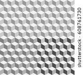 geometric polygon  pattern.... | Shutterstock .eps vector #608761730