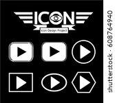 play button icon | Shutterstock .eps vector #608764940