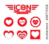 heart icon | Shutterstock .eps vector #608772428