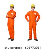 industrial worker isolated on... | Shutterstock . vector #608773094