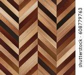 seamless wood parquet texture ... | Shutterstock . vector #608779763