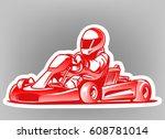 go kart. kart racing | Shutterstock .eps vector #608781014