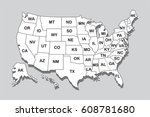 poster map of united states of... | Shutterstock .eps vector #608781680